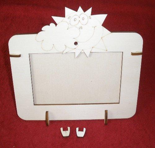 2v1 rámeček na šířku fota 10x15cm - SLUNÍČKO