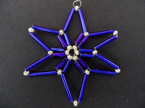 Tmavě modrá hvězdička