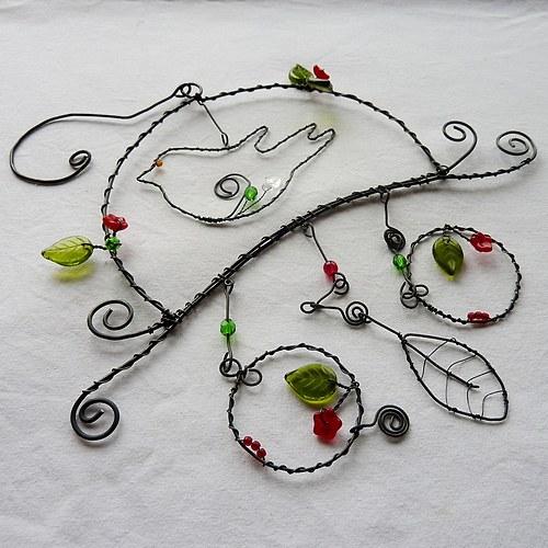 Jarní dekorace s ptáčkem