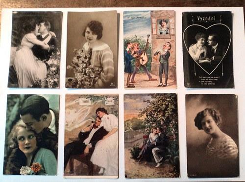 Ve jménu Valetýna pohlednice na scrapbooking