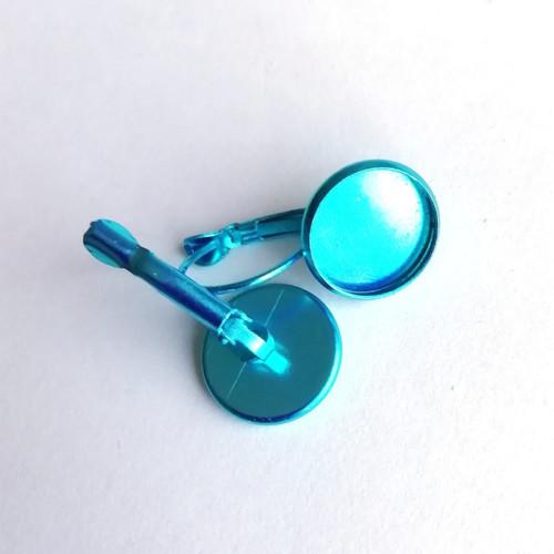 Lůžko - náušnice (12mm) - blankytně modré