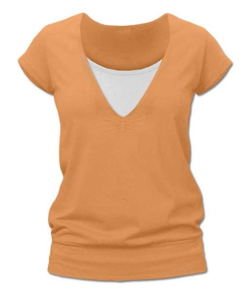 Kojicí  tričko světle oranžová