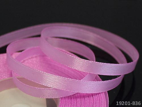 19201-B36 Stuha satén 6mm růžovofialková, sv. 5m