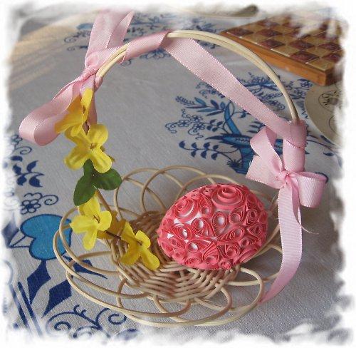 velikonoční dekorace - růžová