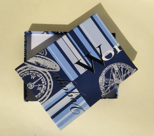 krabička HONZA - modrá s písmeny