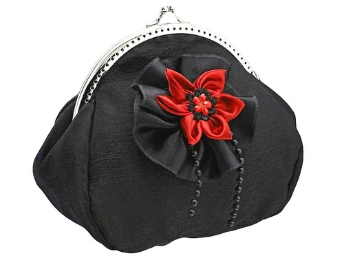 společenská kabelka s organzou -  taštička 0795