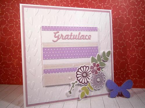 Přání - gratulace (lila)