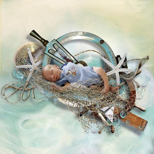 Scrap z vaší fotky (kit Mermaid Story)