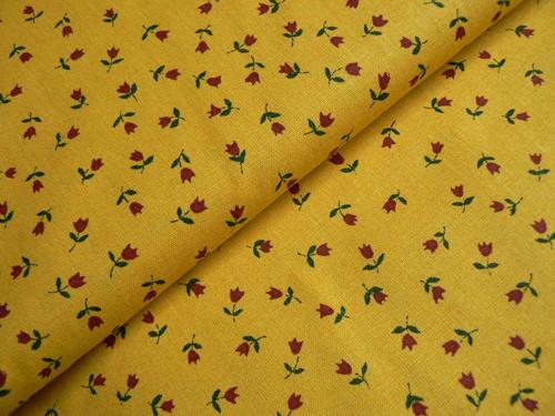 Drobné tulipánky na žlutém podkladu