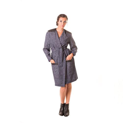 Kabátek s koženkou