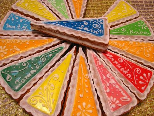 variační dortové díly - perník