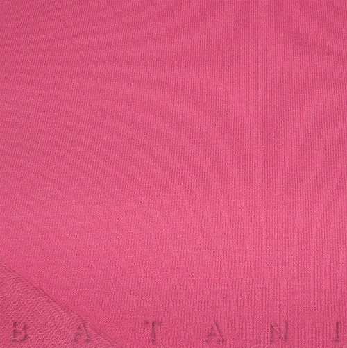 Teplákovina elastická tmavě růžová