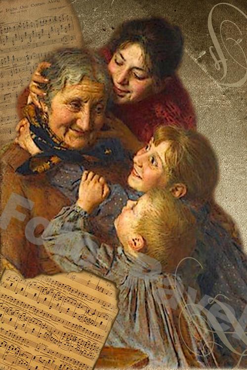 Vintage motiv - milovaná babička