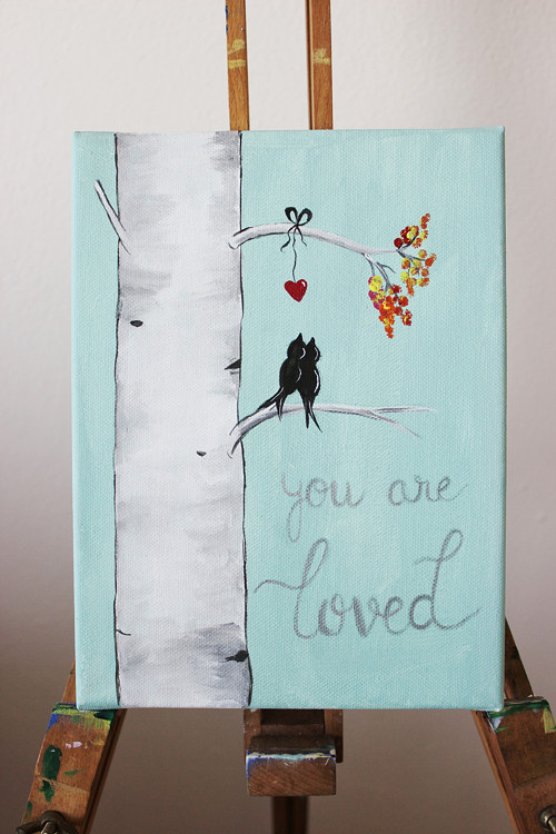 You are loved - možno doplnit srdce a iniciály