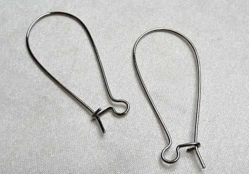 Náušnicový háček velký (2ks - pár) - stříbrná