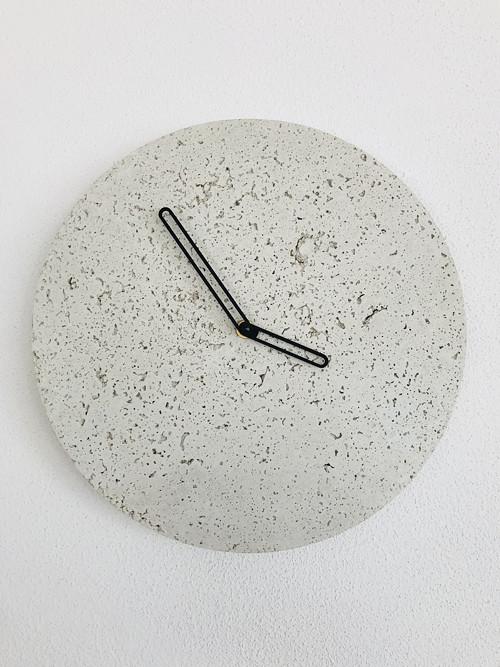 Betónové hodiny - PURE 30 white verzia 1