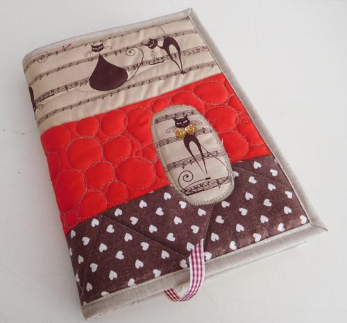 Kočky a noty - obal na knihu