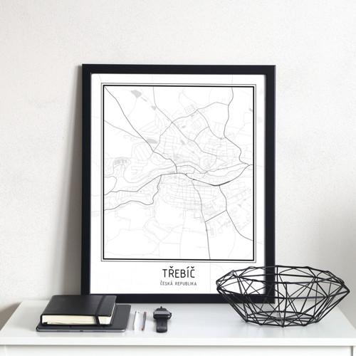 Plakát - mapa Třebíč