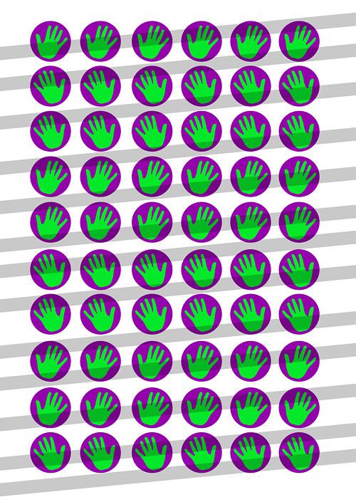 Motivy pro pryskyřici 12mm mailem č.4 ruce