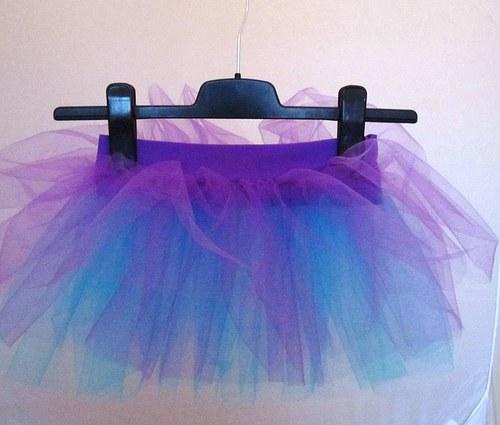 Baletní sukně fialovo-tyrkysová (3-6 let)