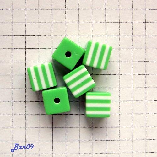 Kostky zelené