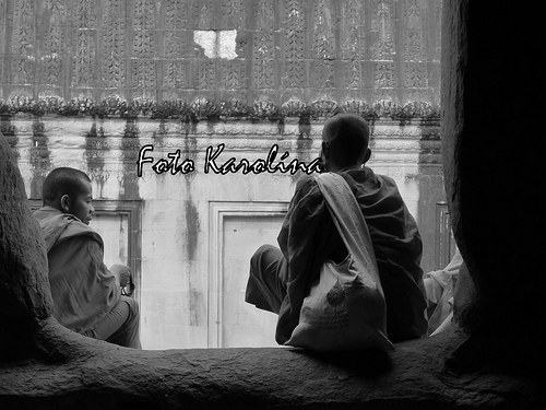 Fotografie Kambodža - Mniši