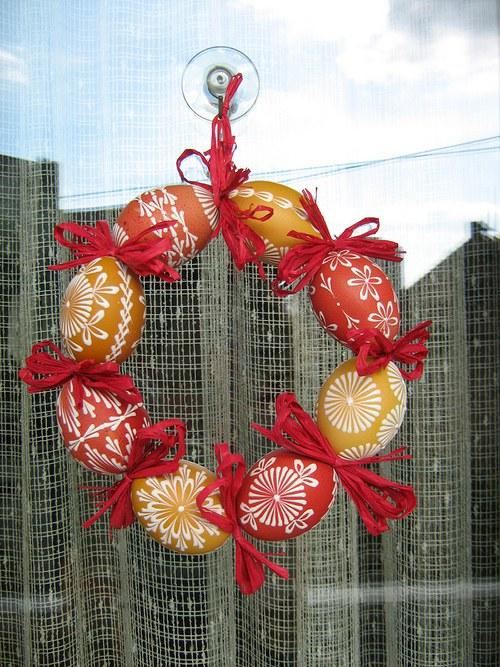 Jarní věneček z kraslic