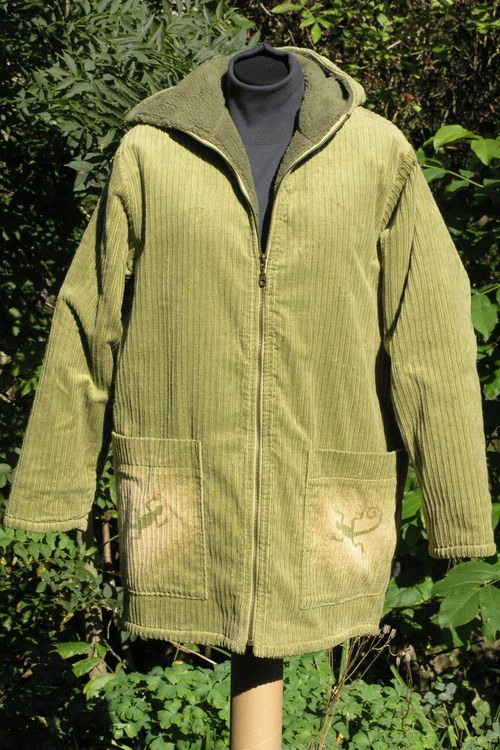 SLEVA z 1870Kč Zelený kabátek s chlupem - Ještěrky