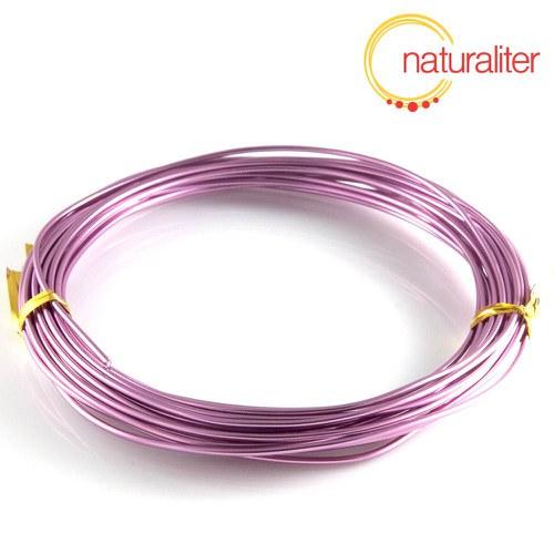 Hliníkový drát světle fialový, 1,5mm x 6m