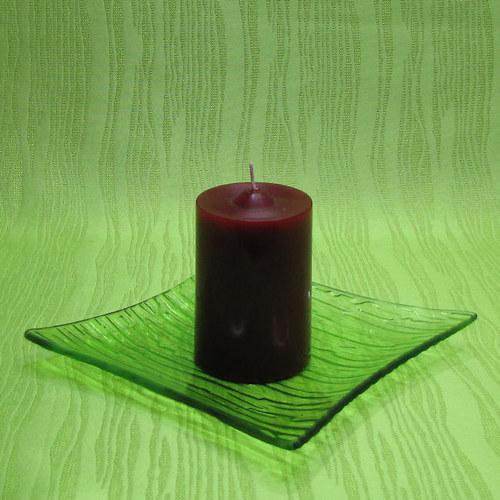 Svíčka dekorativní válec červený - broskev