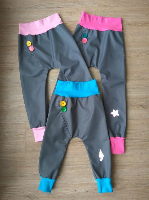 Jarní/ podzimní softshellové kalhoty- kombinace