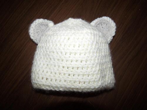 Kojenecká čepička medvídek