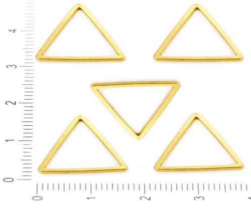 8ks Zlaté Pozlacené Náušnice Trojúhelník Drát Drop