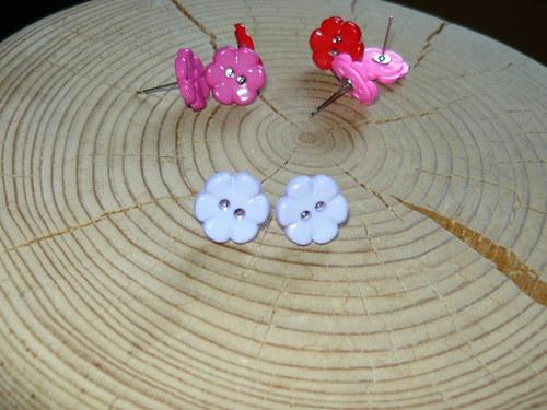 Kytičky světlé fialové - naušnice