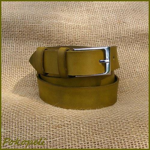 Kožený pásek olivový