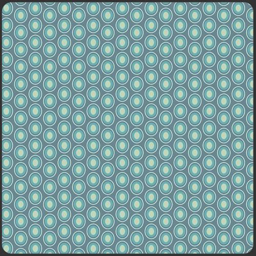 Látka Oval Elements Vintage Blue 925