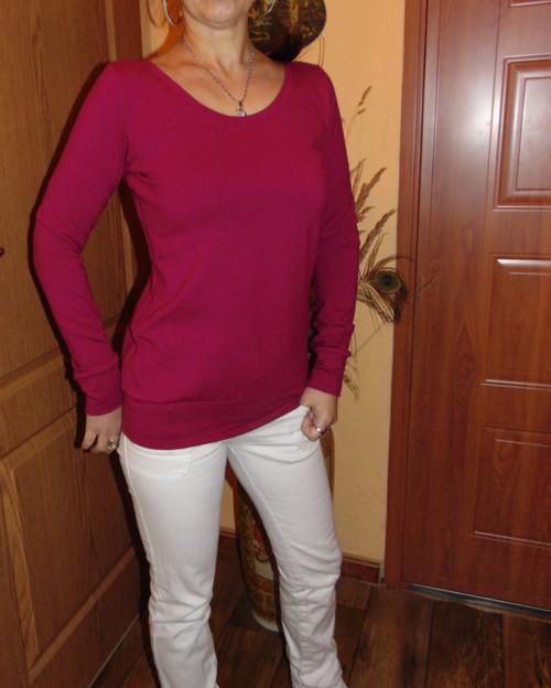 tričko vínovo fialové
