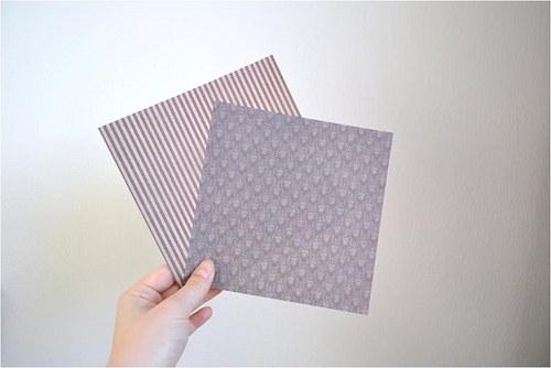 Oboustranný designový origami papír, 15x15cm, 2ks