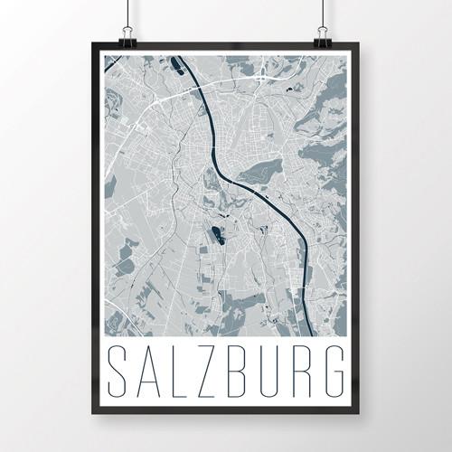 SALZBURG, 50x70cm, moderní, světle modrý