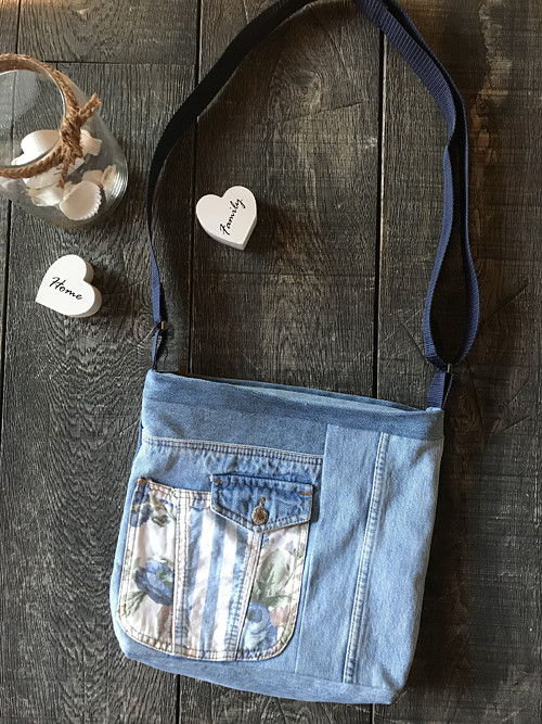 Messenger / Crossbody FLOWER & STRIPES