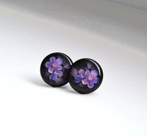 Fialové květy pecky