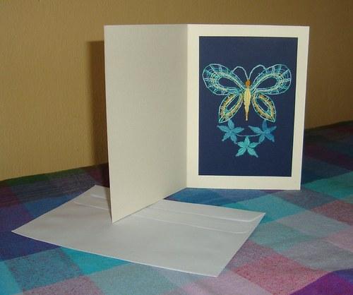 Paličkované přání- Motýlek 7