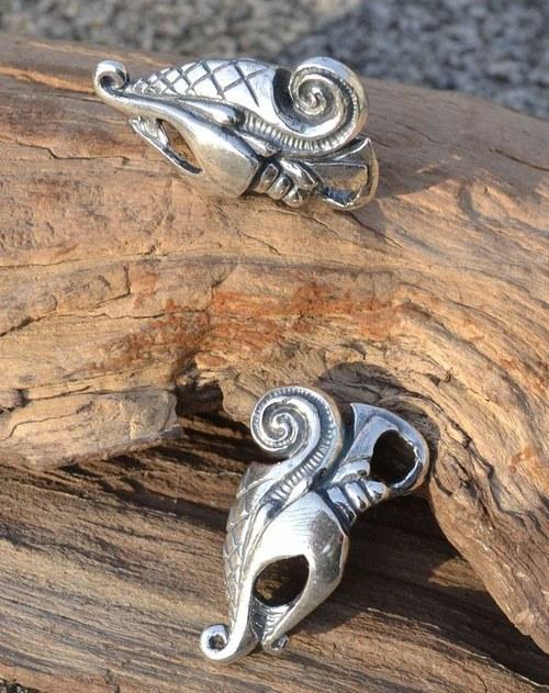 Vikingský Drak DREKI stříbrný přívěšek stříbro 925