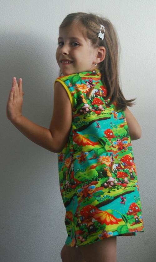 """Úpletové šaty pro holčičky \"""" Mravenec \"""""""