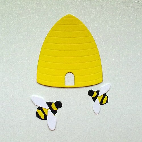 Výsek - Včelí úl a dva čmeláci