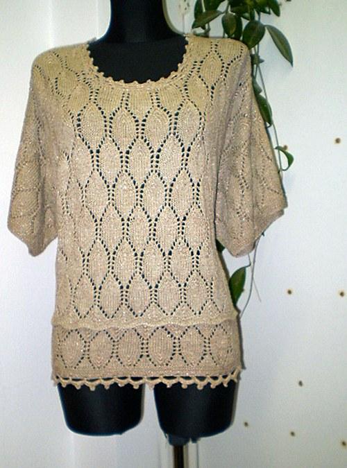 pletená halenka z bavlněné příze