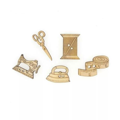 Dřevěné knoflíky pro švadlenky