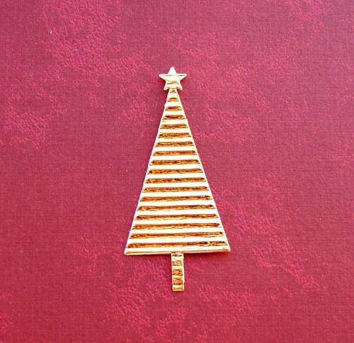 Vánoční stromeček plošný (zlatý)