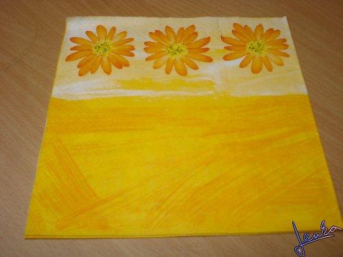 Ubrousek květina oranž