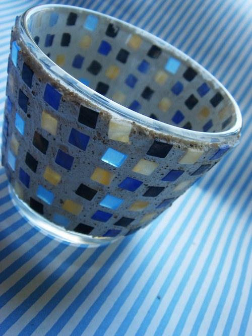 Svícínek mozaikový - tmavě modrý